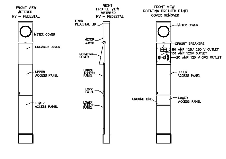 elect_srvce_ped_rv_metr_il 100 amp rv electrical service pedestal metered electrical wiring diagram rv park at gsmx.co
