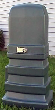Secondary Service Pedestal - Plastic, Rectangular